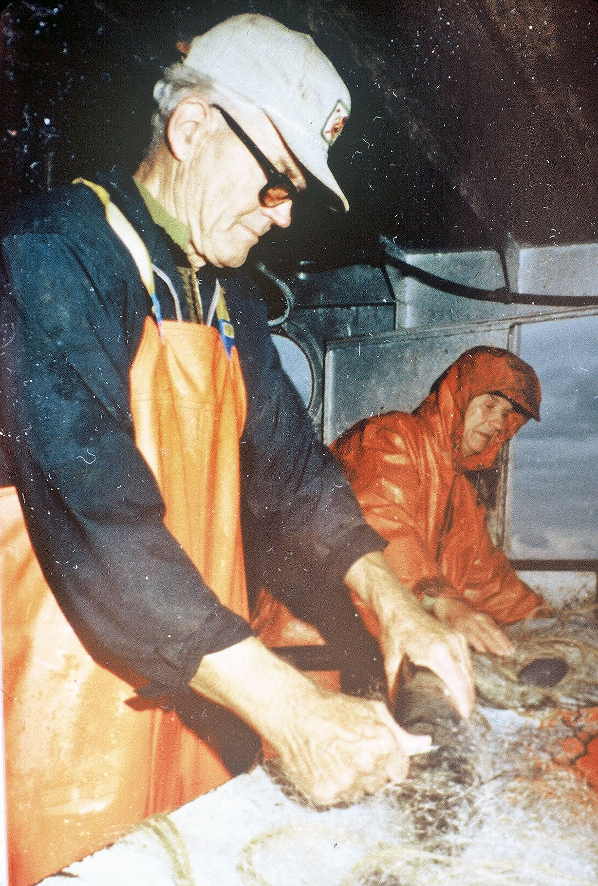 Howard & Emery Weborg sorting fish